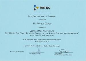 certificate drczineristvanzahnarzt1