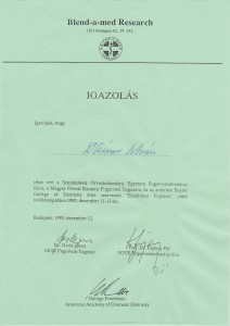 certificate drczineristvanzahnarzt15