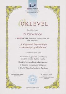 certificate drczineristvanzahnarzt3