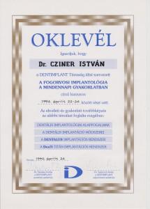 certificate drczineristvanzahnarzt4