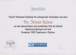 certificate drczineristvanzahnarzt5