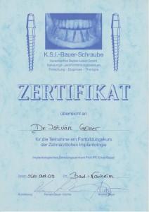 certificate drczineristvanzahnarzt7