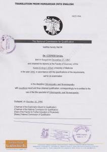 certificate drczineristvanzahnarzt9